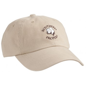 Cotton Boll Hat- Tan